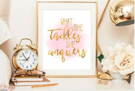 what she tacles she conquers